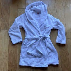 White Robe Hooded Extra Fluffy
